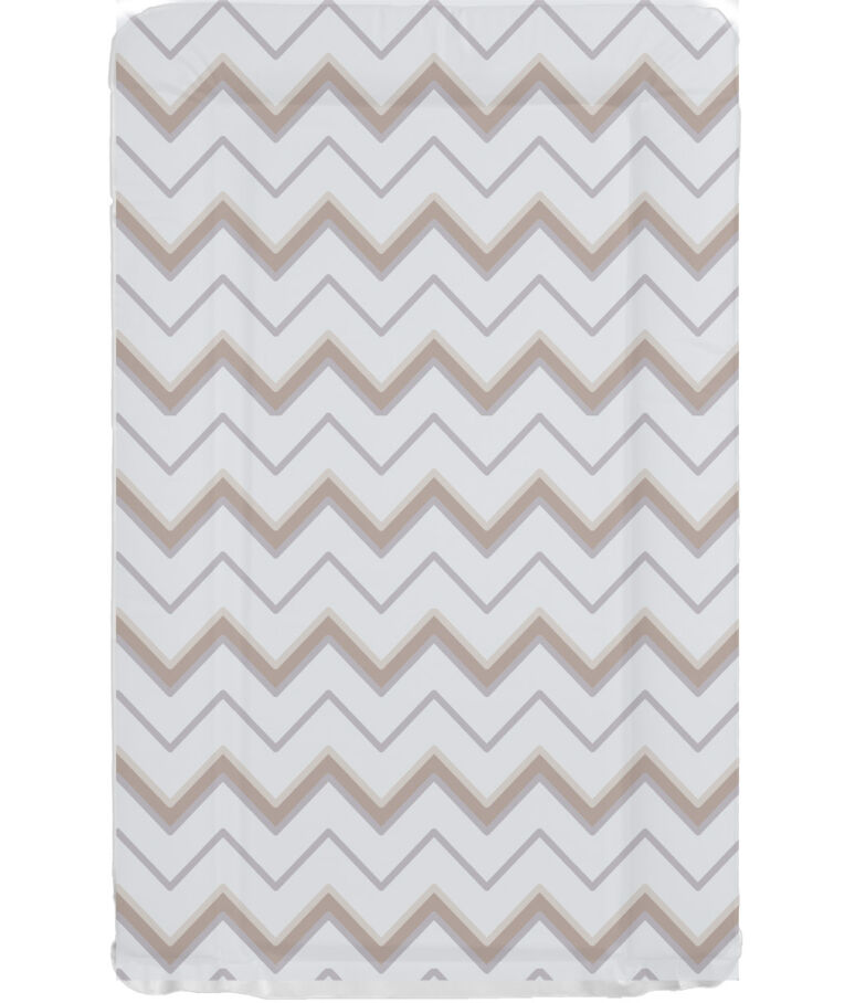 grey and brown chevron rep