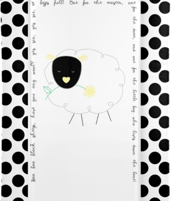 Changing Mat - Baa Baa Black Sheep - Black - Baby Ga Ga