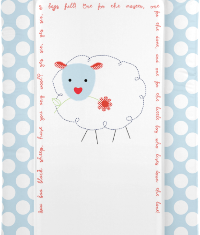 Changing Mat - Baa Baa Black Sheep - Blue (Baby GaGa)