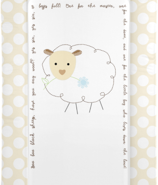 Changing Mat - Baa Baa Black Sheep - Neutral (Baby GaGa)