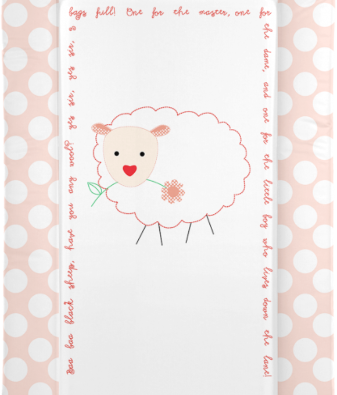 Changing Mat - Baa Baa Black Sheep - Pink (Baby GaGa)
