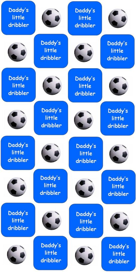 dady's little dribbler 4 cm repeat blue