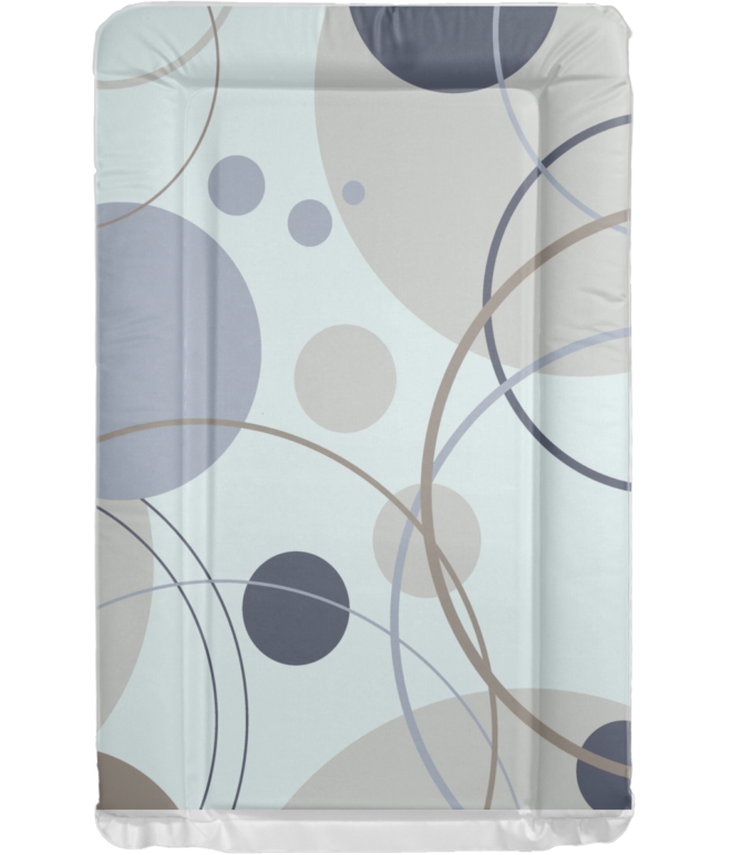 Changing Mat - Bubbles- Grey and Brown