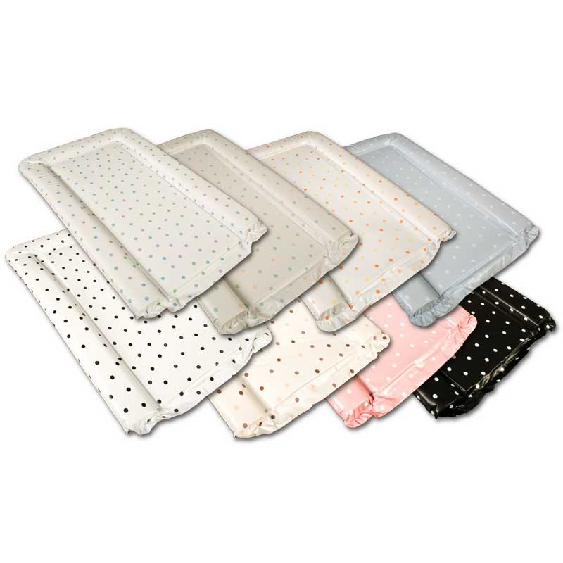 Cream Polka Dots Changing Mat in Coffee
