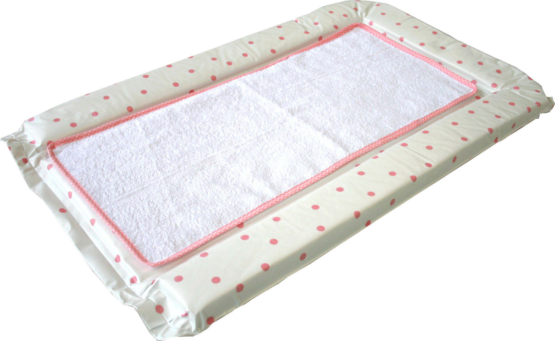 Polka Dot Changing Mat With Cotton Towelling Liner