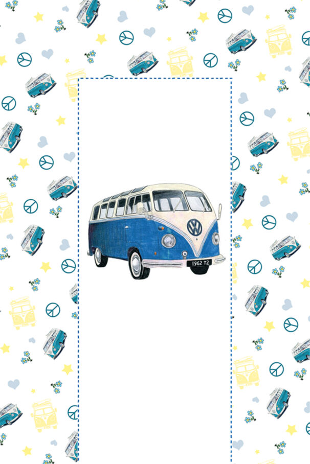 VW Camper Blue